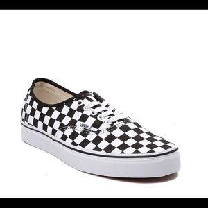 Unisex Vans Checkerboard Skate Shoe white sneaker